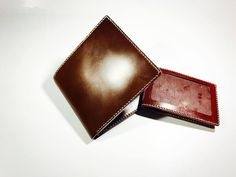 Japan's Cordovan with J&E Bridle Leather Wallet Leather Products, Handmade Leather, Leather Wallet, Crafts, Manualidades, Handmade Crafts, Craft, Arts And Crafts, Artesanato