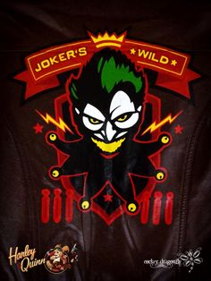Ant Lucia's Bombshell Harley Quinn Jacket !!! Hand painted by: RockerDragonfly