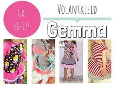 Volantkleid Gemma - Gr 68 - 134 - ebook - dawanda - 6.50 euro