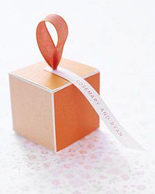 cute box idea - DIY use paint chips