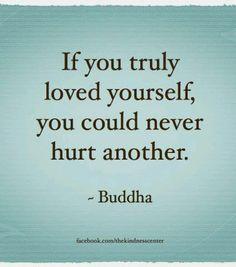 so simple & powerful, love yourself // buddha