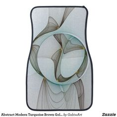 Abstract Modern Turquoise Brown Gold Elegance Car Floor Mat
