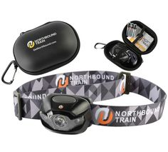 Ultra-Bright LED Headlamp Flashlight Plus Hard Case for Running Camping Hiking