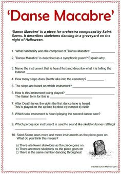 Why should Danse Macabre be for the youngergrades only?  DANSE MACABRE for grades 5-8!  PowerPoint, Audio clips, worksheets and more!