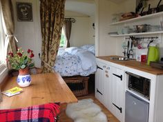 Tremorvu Campsite, Camping, Touring, Glamping & Self Catering Holidays close to the sea in Cornwall - Shepherds Hut Tiny Spaces, Caravan Home, Home, Small Apartments, Barns Sheds, Living Spaces, Tiny Living, Shepherds Hut, Camper Living