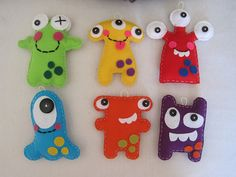 felt monsters monster kids felt DIY is creative inspiration for us. Get more pho. Felt Diy, Felt Crafts, Sewing For Kids, Diy For Kids, Craft Projects, Sewing Projects, Monster Dolls, Felt Patterns, Monster Party