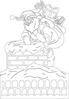 Diy Craft Projects, Diy And Crafts, Projects To Try, Christmas Projects, Christmas Diy, Christmas Coloring Pages, Silhouette Portrait, Kirigami, Painting Patterns