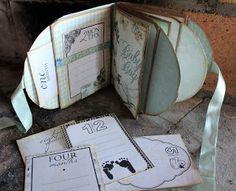 Hekta på papirkunst: Posealbum til baby, Dt bidrag for Scrappiness