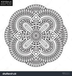 Mandala, Vector Mandala, Floral Mandala, Flower Mandala, Oriental Mandala, Coloring Mandala, Book Page Mandala, Outline Mandala, Template Mandala - 494056435 : Shutterstock