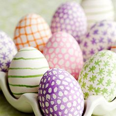Dye-Free Easter Eggs. Use regular or edible markers and create, create, create!