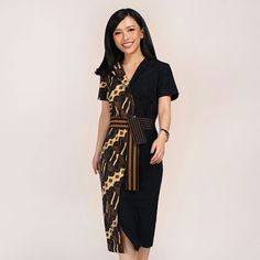 Model Dress Batik, Batik Dress, Lace Dress, Blouse Batik Modern, Dress Batik Kombinasi, Kebaya Dress, Short Dresses, Girls Dresses, Batik Fashion