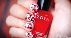 Halloween nails how-to   See more nail designs at http://www.nailsss.com/french-nails/2/