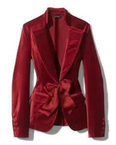 Red Velvet Jacket, Velvet Blazer, Holiday Fashion, Winter Fashion, Holiday Style, Mode Chic, Velvet Fashion, Mode Inspiration, Beautiful Outfits