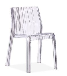 Zuo Modern Ruffle Chair Transparent 106360 (Set of - Modern Chairs - Chairs by Dining Rooms Outlet