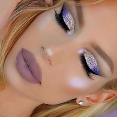 This makeup look is for my boo @brian_champagne anyone that knows Brian knows He loves some glam purple & glitter  GLITTER  @litcosmetics disco diva, love me tender & porcelain  Use code NikkiFrench20 to save 20% off at checkout SHADOW  T03S palette  LASHES  @lillyghalichi @lillylashes in opulence use code NIKKIFRENCH for savings site wide  LIPS  @hudabeauty @shophudabeauty liquid Matte in Medusa  HIGHLIGHT  @artistcouture @mac_daddyy glow powder in Supernova use code nikkifrenc...