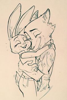 Judy and Nick hugging. Zootopia Fanart, Zootopia Comic, Disney Animation, Animation Film, Cute Disney, Disney Art, Zootopia Nick And Judy, Nick Wilde, Furry Comic