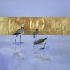"""""""Slip"""" by Ellen Welch Granter. 20"""" x 20"""" Oil and Gold Leaf on Panel.  Available at www.maine-art.com."""