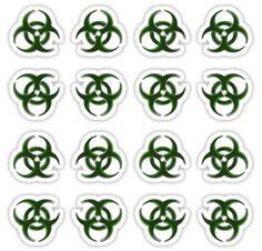 Biohazard warning, bio waste stickers set of 16! by cool-shirts #stickers #decals #set