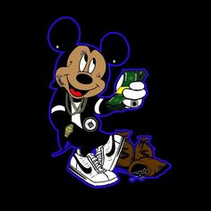 Meet your Posher, Isaiah Mickey Mouse Art, Mickey Mouse Wallpaper, Vintage Mickey Mouse, Mickey Mouse And Friends, Minnie Mouse, Black Anime Characters, Cartoon Characters, Drugs Art, Snoop Dogg