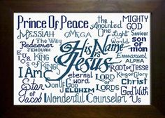His Name is Jesus - Extra Large Size Cross Stitch Pattern
