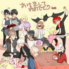 Diabolik Lovers - Sakamaki, Mukami, Tsukinami, Yui Komori