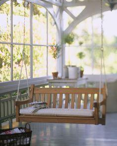wrap-around verandah and swing seat
