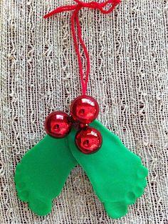 Christmas Baby Mistletoe and Holly Craft