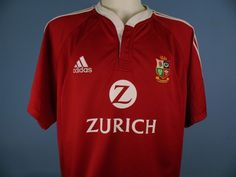 Authentic British Lions 2005 New Zeland Rugby Union Tour Shirt Size Extra Large