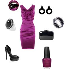 Black and Purple, created by mhartz.polyvore.com