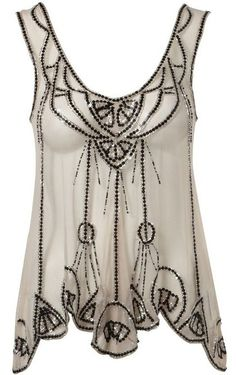 Lipsy Deco Beaded Swing Top