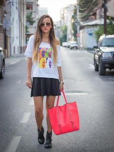 If you like my look, please vote for me :) Pop art for my ego Hermes Birkin, Marie Claire, Fashion Pictures, Street Style Women, My Outfit, Pop Art, Celebrities, Street Fashion, Womens Fashion