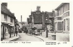 St Mary Cray - High Street Kent Local History, Family History, Forest Hill, Croydon, Old Photos, Saints, Street View, Mary, River