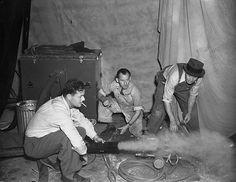 "Photo Credit: Image courtesy Harry Ransom Center. Production still of smoke machine used in the ""Burning of Atlanta"" scene."
