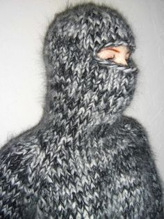 Thick Sweaters, Balaclava, Catsuit, Mittens, Cozy, Knitting, Winter, Corona, Overalls