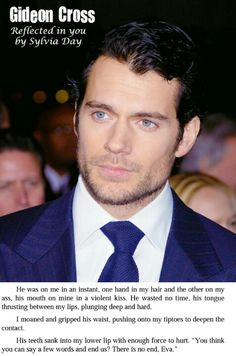 Yes...yes Mr. Cavill would make a perfect Gideon Cross!