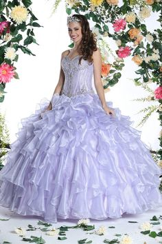Fashionably chic Q by Davinci style 80266 featuring hermoso Shimmer Organza in colors Mint, Lilac! Purple Quinceanera Dresses, Quinceanera Ideas, Ball Dresses, Ball Gowns, Pnina Tornai Dresses, Cheap Dresses, Formal Dresses, Bridal Dresses Online, Designer Wedding Gowns