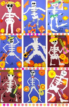 Day-of-the-Dead-art-lesson-2. Follow link to Deep Space Sparkle blog for lesson.