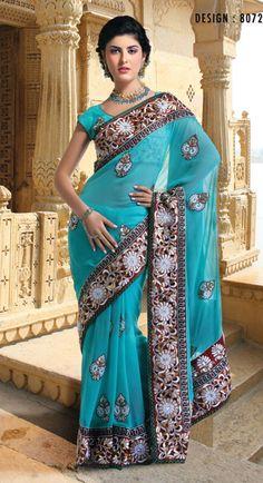 I guess I ♥ blue Oriental Fashion, Asian Fashion, Indian Dresses For Kids, Culture Clothing, Bollywood Dress, Lehenga Style, Indian Bridal Wear, Indian Attire, Fashion Fabric