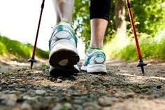 Nordic walking - no matter what the surface is. Spikes when it is slippery, paws when it is not. These are spikes.