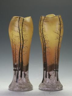 Lot: A Pair Of Cameo Glass Vases, Lot Number: 0079, Starting Bid: A$1,600, Auctioneer: Arts Of World Auctioneer & Valuer, Auction: End Of Year Auction, Date: December 18th, 2016 EET