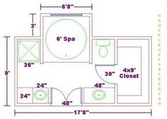 bathroom designs and floor plans bath floor plan with 9x17 dimensions free 9x17 master bath. beautiful ideas. Home Design Ideas