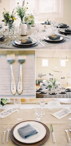 Vintage Silverplate Flatware w/ Wedding Date Stamped on Them - So Cute!!