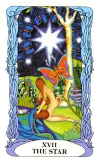 June 25 Tarot Card: The Star (Moon Garden deck) Good things come to those who embody positivity, hope and gratitude