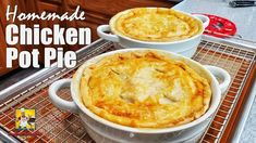 Super easy to make Chicken Pot Pies! It's that time of the year folks. Unless you live is souther California because it. Homemade Chicken Pot Pie, Recipe Chicken, Chicken Recipes, Turkey Recipes, Pie Recipes, Dessert Recipes, Cooking Recipes, Cajun Cooking, Cajun Food
