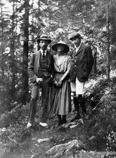 Rainer Maria Rilke with Baladine and Balthus Klossowska