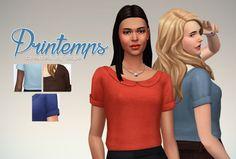 Un Sims au bout du fil. - Printemps Top for the Sims 4. As I don't have time...