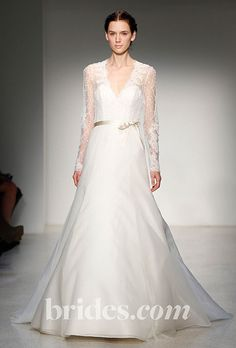 Brides.com: Fall 2013 Wedding Dress Trends. Wedding Dress with Long Sleeves: Christos. Lace, long-sleeved gown by Christos  See more Christos wedding dresses in our gallery.