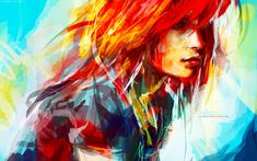 Beautiful Redhead Girls Ilustrations