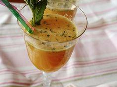 Kostenloses Rezept: Orangensaft mit Ingwer und Minze zubereiten / free recipe: orange juice with ginger and mint via DaWanda.com