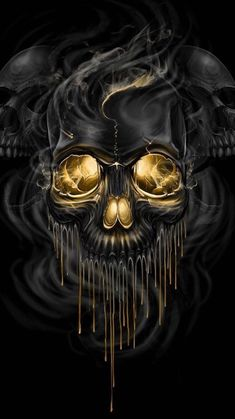 Skull wallpaper by xhani_rm - - Free on ZEDGE™ Dark Fantasy Art, Dark Art, Image Illusion, Brust Tattoo, Totenkopf Tattoos, Skull Pictures, Skull Artwork, Skull Wallpaper, Black Wallpaper